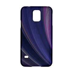 A Pruple Sweeping Fractal Pattern Samsung Galaxy S5 Hardshell Case  by Simbadda