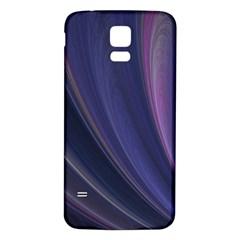 A Pruple Sweeping Fractal Pattern Samsung Galaxy S5 Back Case (white) by Simbadda