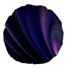 A Pruple Sweeping Fractal Pattern Large 18  Premium Flano Round Cushions by Simbadda