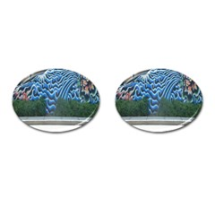 Mural Wall Located Street Georgia Usa Cufflinks (oval) by Simbadda