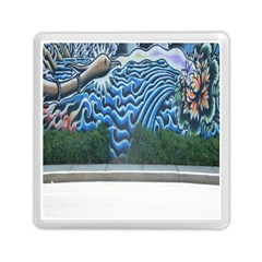 Mural Wall Located Street Georgia Usa Memory Card Reader (square)  by Simbadda