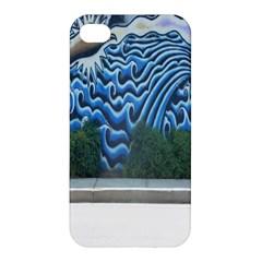 Mural Wall Located Street Georgia Usa Apple Iphone 4/4s Premium Hardshell Case by Simbadda
