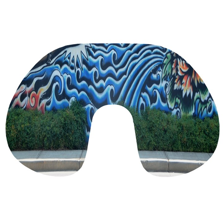 Mural Wall Located Street Georgia Usa Travel Neck Pillows