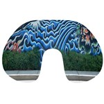 Mural Wall Located Street Georgia Usa Travel Neck Pillows Back