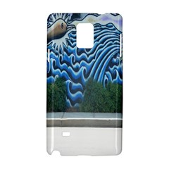 Mural Wall Located Street Georgia Usa Samsung Galaxy Note 4 Hardshell Case by Simbadda