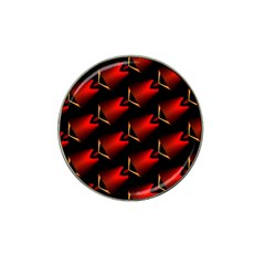 Fractal Background Red And Black Hat Clip Ball Marker (4 Pack) by Simbadda