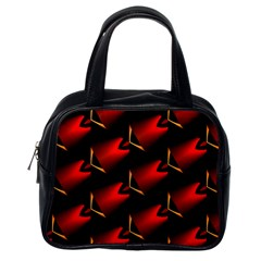 Fractal Background Red And Black Classic Handbags (one Side) by Simbadda