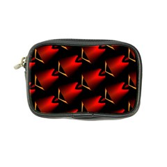 Fractal Background Red And Black Coin Purse by Simbadda