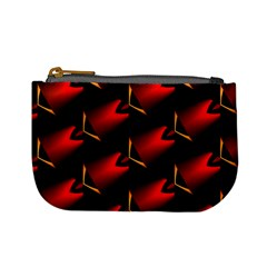Fractal Background Red And Black Mini Coin Purses by Simbadda
