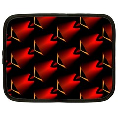 Fractal Background Red And Black Netbook Case (xl)  by Simbadda