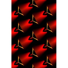 Fractal Background Red And Black 5 5  X 8 5  Notebooks by Simbadda