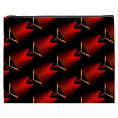 Fractal Background Red And Black Cosmetic Bag (xxxl)  by Simbadda
