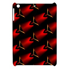 Fractal Background Red And Black Apple Ipad Mini Hardshell Case by Simbadda