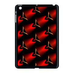 Fractal Background Red And Black Apple Ipad Mini Case (black) by Simbadda