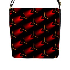 Fractal Background Red And Black Flap Messenger Bag (l)  by Simbadda