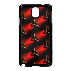 Fractal Background Red And Black Samsung Galaxy Note 3 Neo Hardshell Case (black) by Simbadda