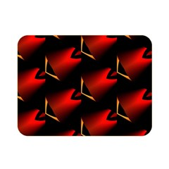 Fractal Background Red And Black Double Sided Flano Blanket (mini)  by Simbadda