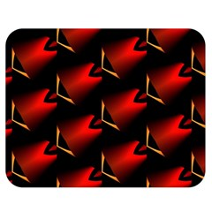 Fractal Background Red And Black Double Sided Flano Blanket (medium)  by Simbadda