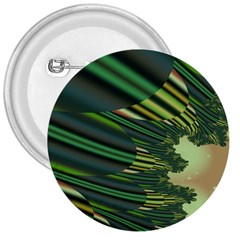 A Feathery Sort Of Green Image Shades Of Green And Cream Fractal 3  Buttons by Simbadda
