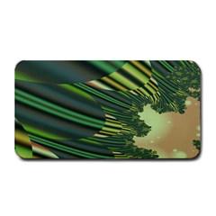 A Feathery Sort Of Green Image Shades Of Green And Cream Fractal Medium Bar Mats by Simbadda