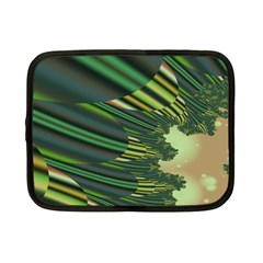 A Feathery Sort Of Green Image Shades Of Green And Cream Fractal Netbook Case (small)