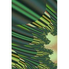 A Feathery Sort Of Green Image Shades Of Green And Cream Fractal 5 5  X 8 5  Notebooks by Simbadda