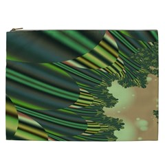 A Feathery Sort Of Green Image Shades Of Green And Cream Fractal Cosmetic Bag (xxl)  by Simbadda