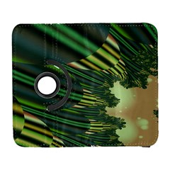 A Feathery Sort Of Green Image Shades Of Green And Cream Fractal Galaxy S3 (flip/folio) by Simbadda