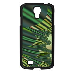 A Feathery Sort Of Green Image Shades Of Green And Cream Fractal Samsung Galaxy S4 I9500/ I9505 Case (black) by Simbadda