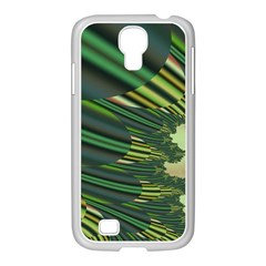 A Feathery Sort Of Green Image Shades Of Green And Cream Fractal Samsung Galaxy S4 I9500/ I9505 Case (white) by Simbadda
