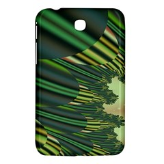 A Feathery Sort Of Green Image Shades Of Green And Cream Fractal Samsung Galaxy Tab 3 (7 ) P3200 Hardshell Case  by Simbadda