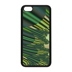 A Feathery Sort Of Green Image Shades Of Green And Cream Fractal Apple Iphone 5c Seamless Case (black) by Simbadda