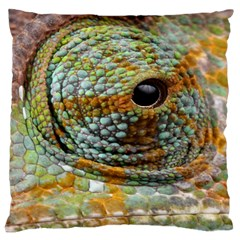 Macro Of The Eye Of A Chameleon Large Cushion Case (Two Sides)