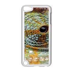 Macro Of The Eye Of A Chameleon Apple Ipod Touch 5 Case (white) by Simbadda