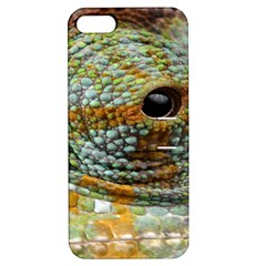 Macro Of The Eye Of A Chameleon Apple Iphone 5 Hardshell Case With Stand by Simbadda