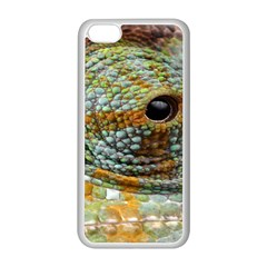 Macro Of The Eye Of A Chameleon Apple Iphone 5c Seamless Case (white) by Simbadda