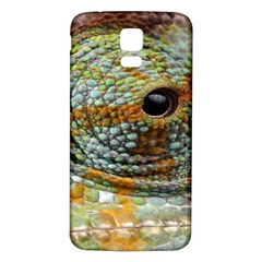 Macro Of The Eye Of A Chameleon Samsung Galaxy S5 Back Case (white) by Simbadda