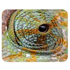 Macro Of The Eye Of A Chameleon Double Sided Flano Blanket (medium)  by Simbadda