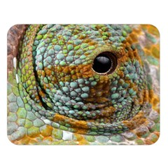 Macro Of The Eye Of A Chameleon Double Sided Flano Blanket (large)  by Simbadda