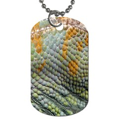 Macro Of Chameleon Skin Texture Background Dog Tag (two Sides) by Simbadda