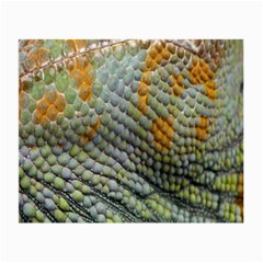 Macro Of Chameleon Skin Texture Background Small Glasses Cloth (2 Side) by Simbadda