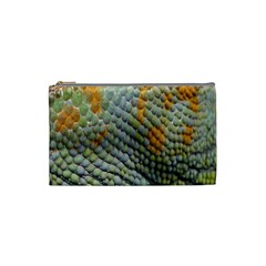 Macro Of Chameleon Skin Texture Background Cosmetic Bag (small)  by Simbadda