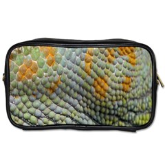Macro Of Chameleon Skin Texture Background Toiletries Bags 2 Side by Simbadda