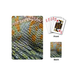 Macro Of Chameleon Skin Texture Background Playing Cards (mini)  by Simbadda