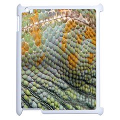 Macro Of Chameleon Skin Texture Background Apple Ipad 2 Case (white) by Simbadda