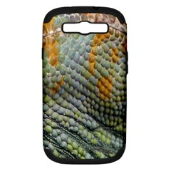Macro Of Chameleon Skin Texture Background Samsung Galaxy S Iii Hardshell Case (pc+silicone)