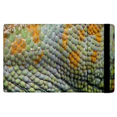 Macro Of Chameleon Skin Texture Background Apple Ipad 2 Flip Case by Simbadda