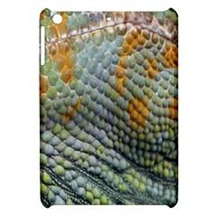 Macro Of Chameleon Skin Texture Background Apple Ipad Mini Hardshell Case by Simbadda