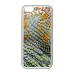 Macro Of Chameleon Skin Texture Background Apple Iphone 5c Seamless Case (white) by Simbadda