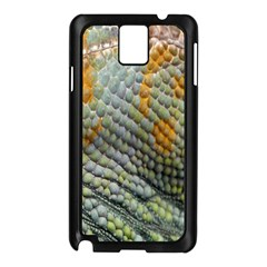 Macro Of Chameleon Skin Texture Background Samsung Galaxy Note 3 N9005 Case (black) by Simbadda